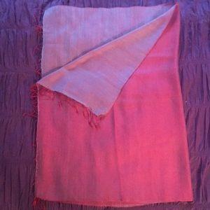 Accessories - Raspberry and lavender silk shawl